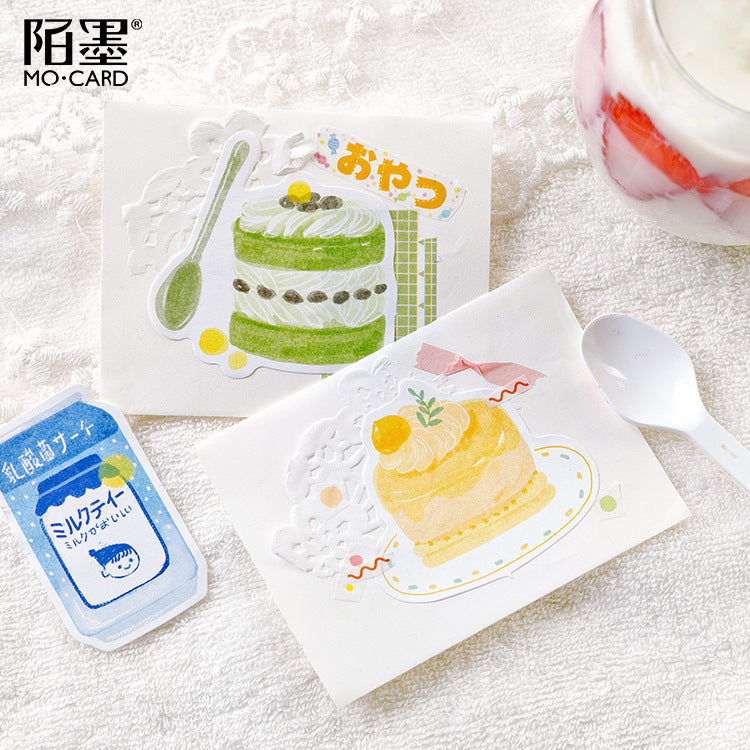 Kawaii Korean Japanese White Leather Note Bag And Snack Shop Fresh Message Memo Sticky Note