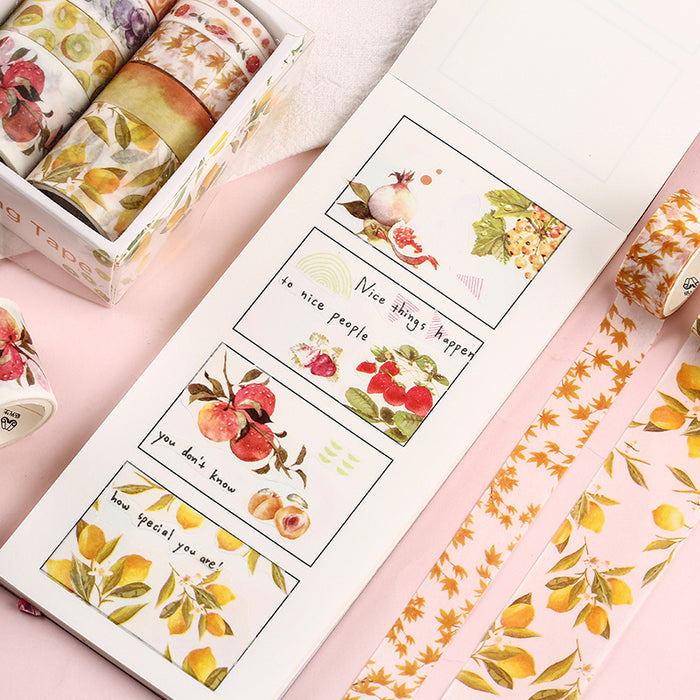 Kawaii Korean Japanese Decorative The Sea And Forest Washi Tape - 10 Rolls Per Pox
