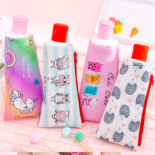 Kawaii  Japanese and Korean  Cartoon pencil sharpener toothpaste pencil case pencil case storage stationery bag