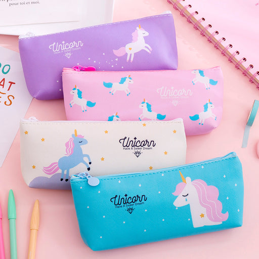 Kawaii Korean Japanese Strawberry Milk Cute Unicorn Girly Student Pencil Pen Pouch