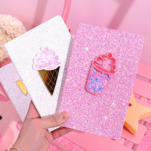Kawaii  Japanese  Korean  Colorful ice cream quicksand notebook