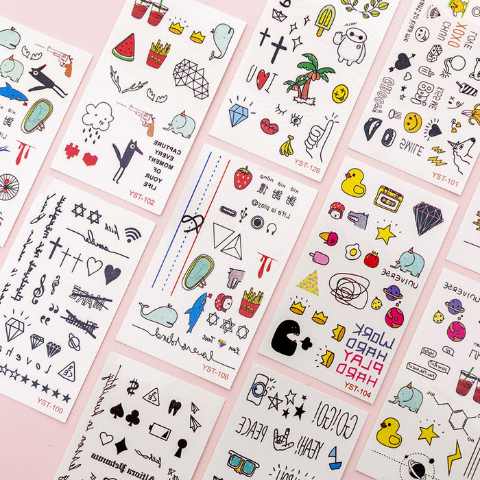 Kawaii  Japanese  Korean Anime cartoon tattoo stickers