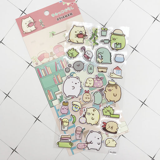 Kawaii  Japanese  Korean Cartoon three-dimensional bubble stickers corner series foam stickers