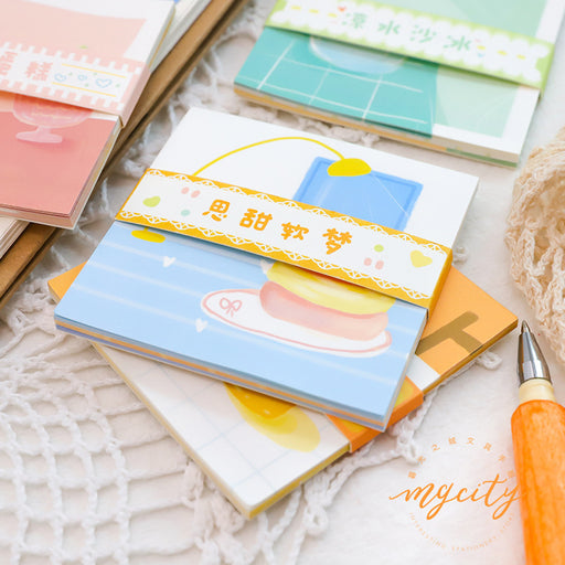 Kawaii Korean Japanese Twilight Notepad Corner Dessert Shop Series Memo Sticky Note