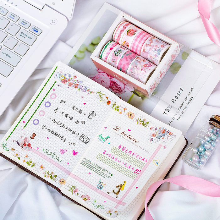 Kawaii Korean Japanese Girly Hello My Love Sunset  Washi Tape Set