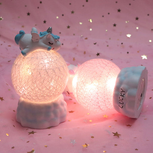 Kawaii  Japanese  Korean - Unicorn night light bedroom bedside lamp romance cute kawaii gifts