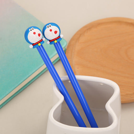Kawaii Japanese Korean  Doraemon cat anime fountain pen machine cat gel pen