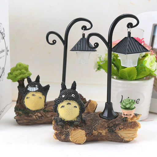 Kawaii  Japanese  Korean -My Neighbor Totoro night light resin crafts desktop small table lamp  Totoro birthday gift