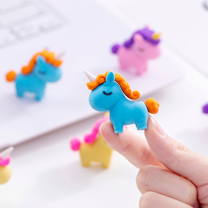 Kawaii  Japanese  Korean  Unicorn Creative Eraser Pencil Eraser Cartoon Eraser