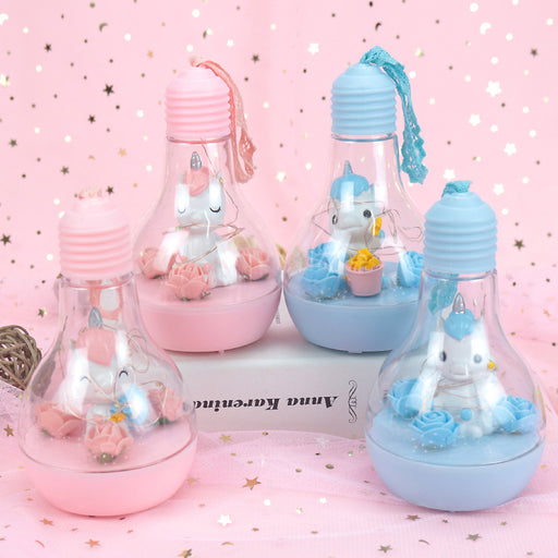 Kawaii  Japanese  Korean -Unicorn bulb music small table lamp night light birthday gift, graduation gift