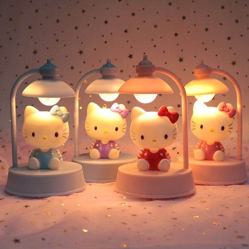 Kawaii  Japanese  Korean -Hello Kitty kitten music night light table lamp birthday girl gift