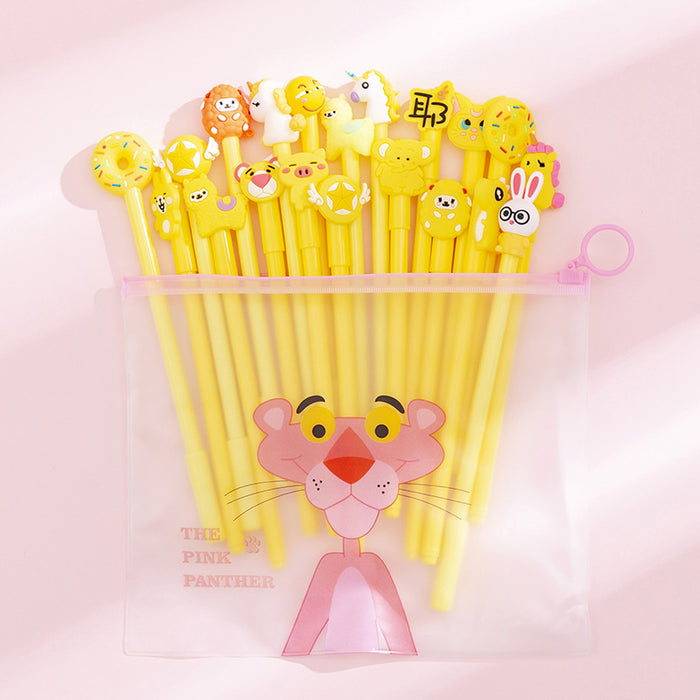 Kawaii Korean Japanese Girl Heart Net Red Suit Pen Student Cute Cartoon Gel Pen Set