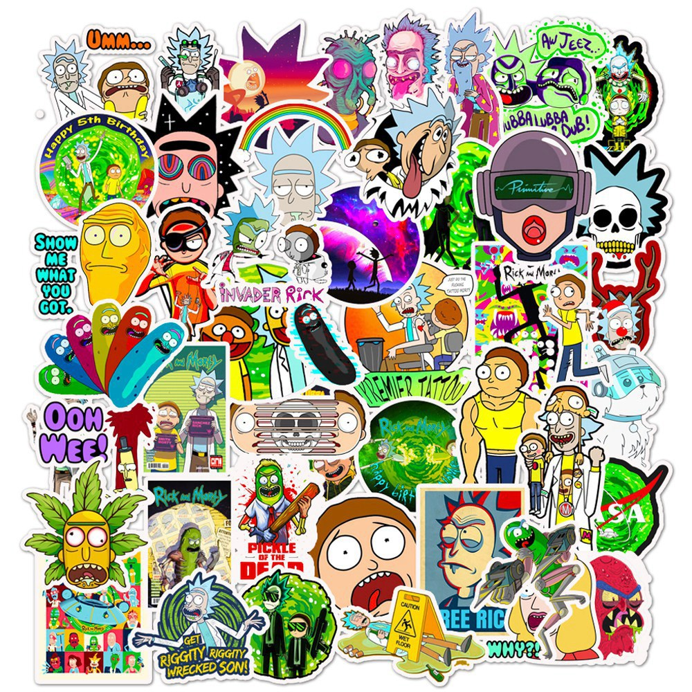 unique Rick and Morty  waterproof and removable cartoon stickers