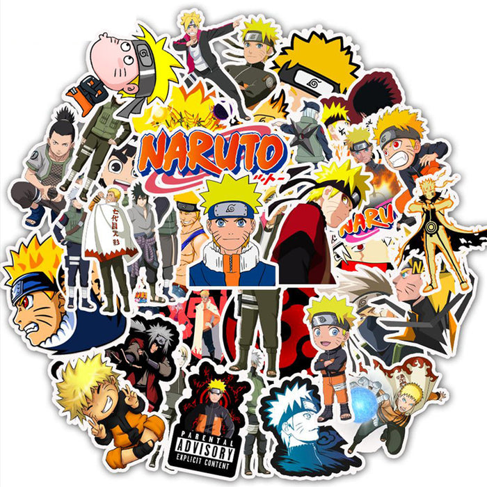 Naruto Sasuke stickers waterproof removable personality suitcase notebook stickers cartoon stickers