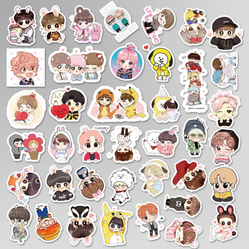 Kawaii Japanese Korean BTS Korea Group Emoji Stickers