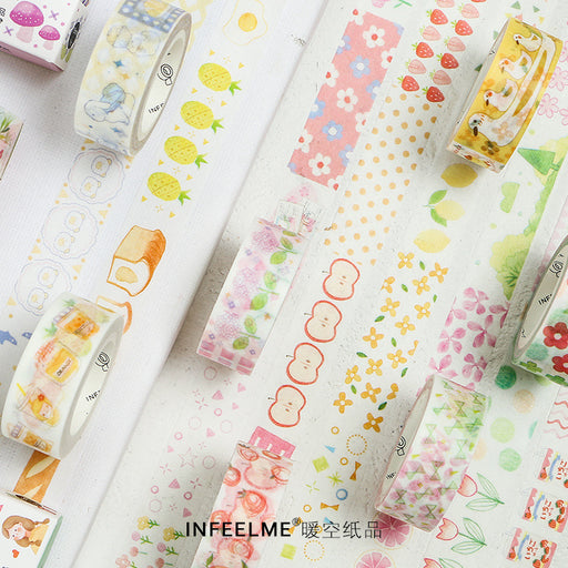 Kawaii Korean Japanese Fruit Girl Strawberry Peachy Washi Tape
