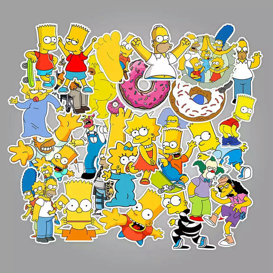 European and American hit cartoon Simpsons suitcase stickers skateboard notebook waterproof graffiti stickers