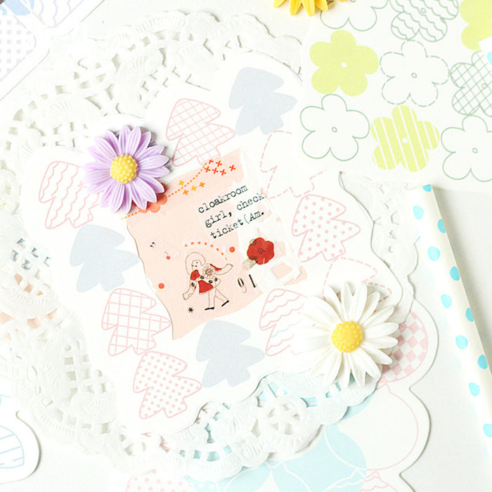 Kawaii Korean Japanese Paper-Dyed Spring Breath Series Memo Sticky Note