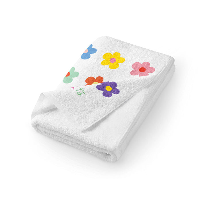 Kawaii Japanese Koreanins small flower flower cute daily necessities girl heart towel face towel