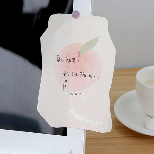 Kawaii Strawberry Milk Box Peachy Notes Meeting Sticky Note
