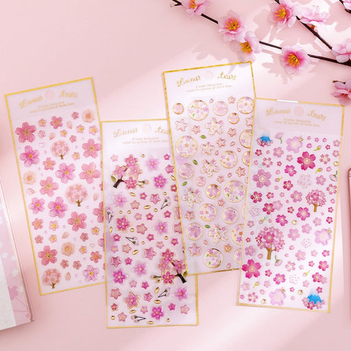 Kawaii  Japanese  Korean  Cherry blossom stickers