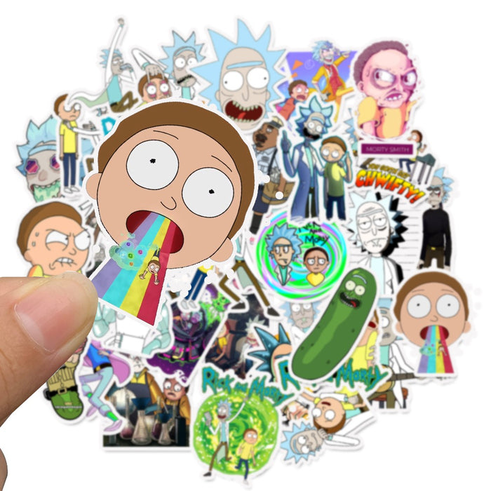 American Cartoon Rick and Morty Amazon Waterproof Removable Stickers