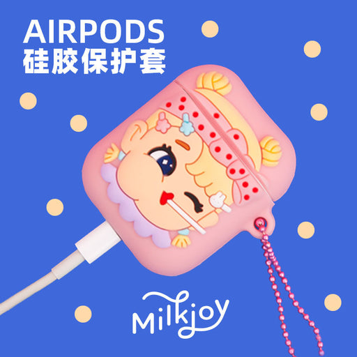 Cool girls airpods headphone cover silicone girl heart instagram style cartoon creative apple headphone cover