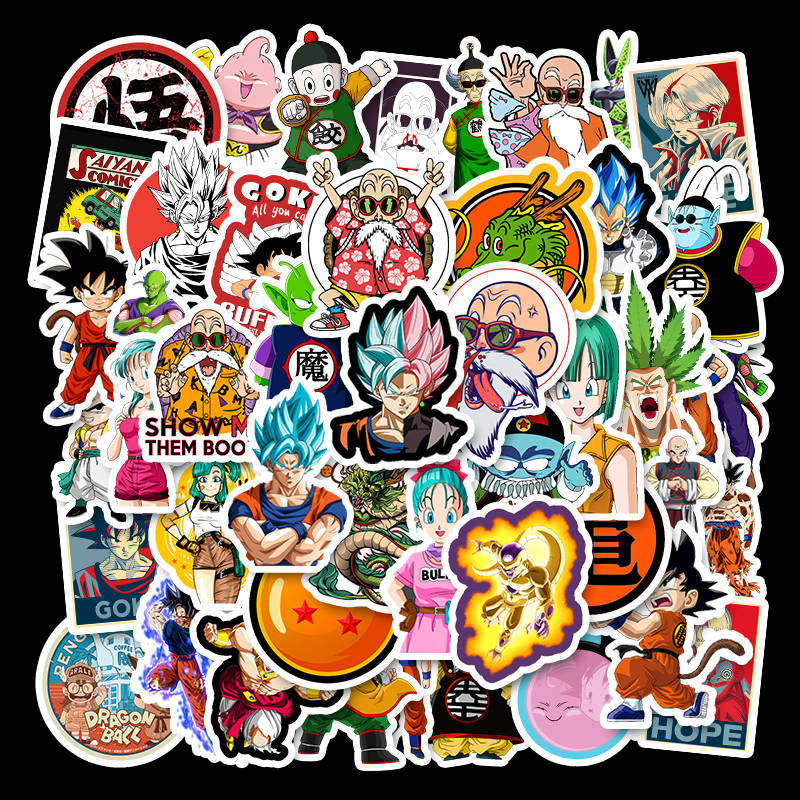waterproof removable Japanese anime dragon ball stickers suitcase suitcase skateboard notebook doodle stickers