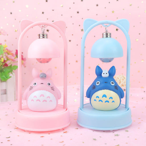 Kawaii  Japanese  Korean -Totoro chibi  light decoration pink girl with music desk lamp