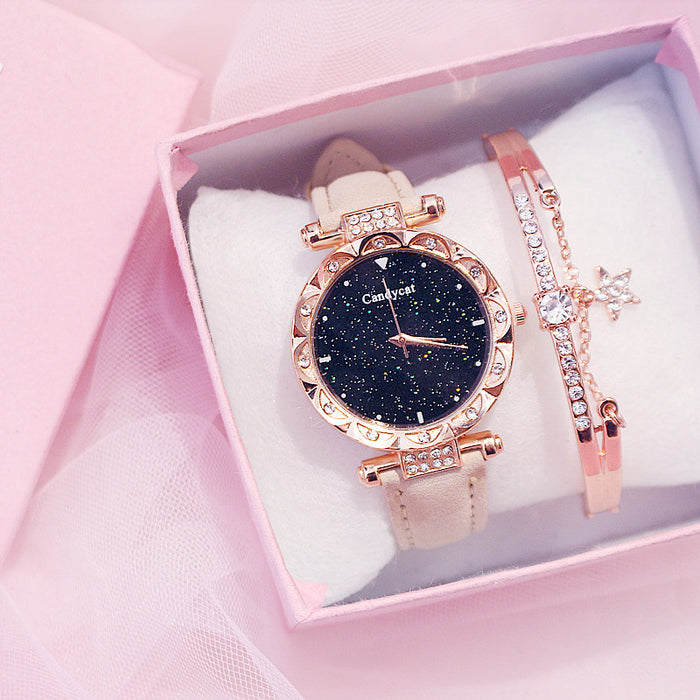 Kawaii  Japanese  Korean Starry sky simple casual watch
