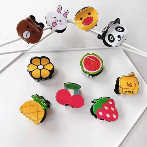 Bunny Cherry Hair Accessories Grabbing Clip Bangs Clip