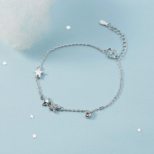 S925 silver Korean Diamond Star Bracelet