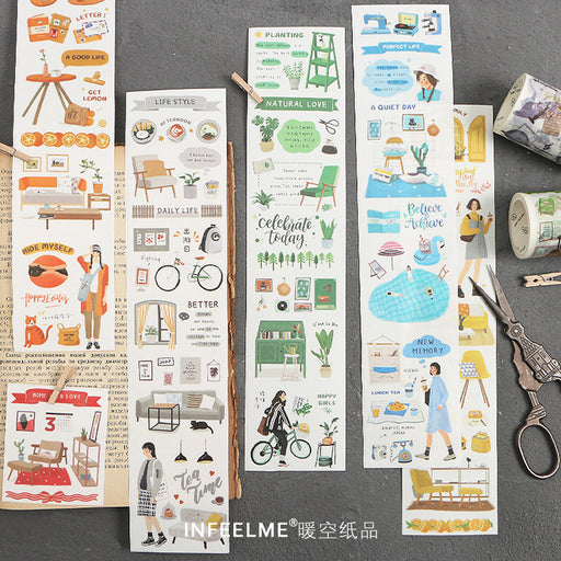 Kawaii Korean Japanese -infeel.me oxygen diary series paper tape