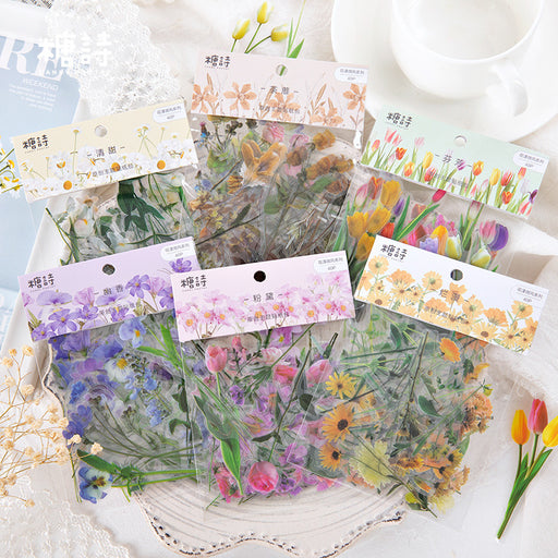 Kawaii Japanese Korean flower shaped stickers