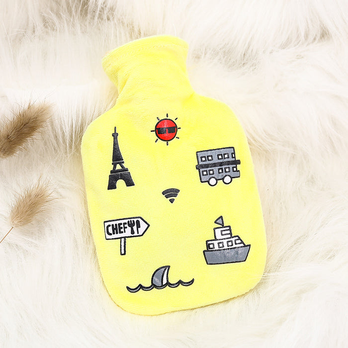 Kawaii  Japanese  Korean Hand warming belly warm plush hot water bottle water injection explosion-proof irrigation