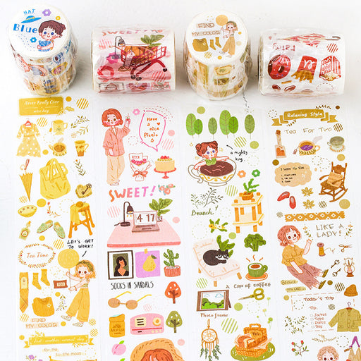 Mr. paper and paper tape eat the sea poet cute salt series small person diary DIY decorative stickers