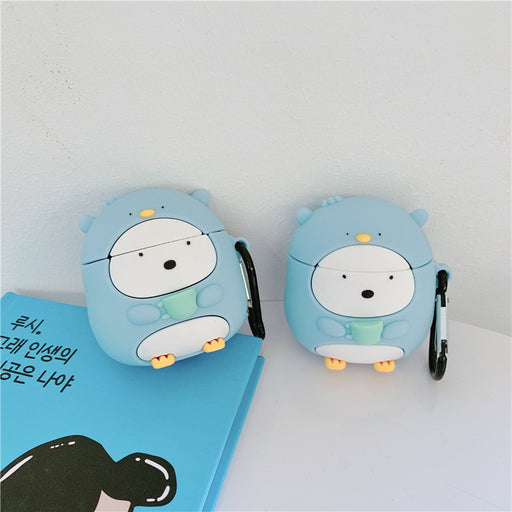 Aesthetic Cute Cup Penguin Bluetooth Wireless Headset Case