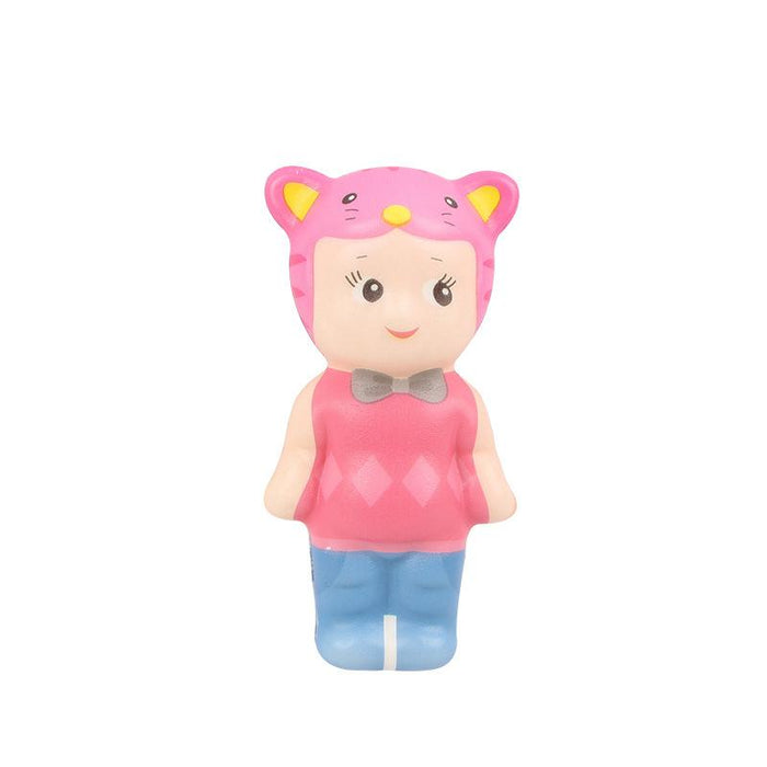 Silly Squishy - Slow bounce color print animal head doll Squishy