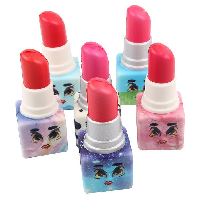 Silly Squishy - Kawaii Korean Japanese Color Printing Lipstick Toy Pu Slow Squishy