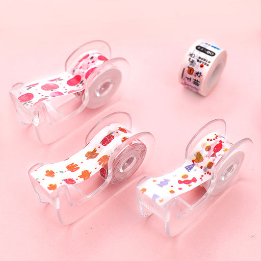 Kawaii Japanese Korean Cut Tape Dispenser Transparent
