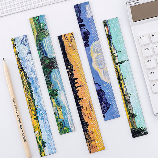 Kawaii  Japanese  Korean  Oil Painting Magnetic Soft Ruler, Bendable Measuring Ruler