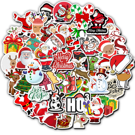 Christmas-themed  explosion-proof non-repeated suitcase stickers waterproof graffiti suitcase stickers