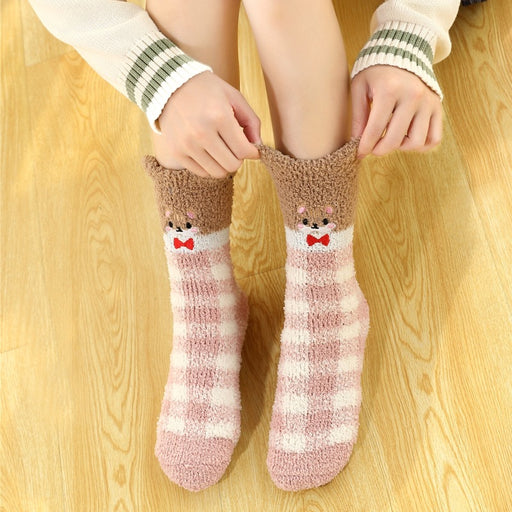 Japanese Striped Kawaii Thick Warm Socks