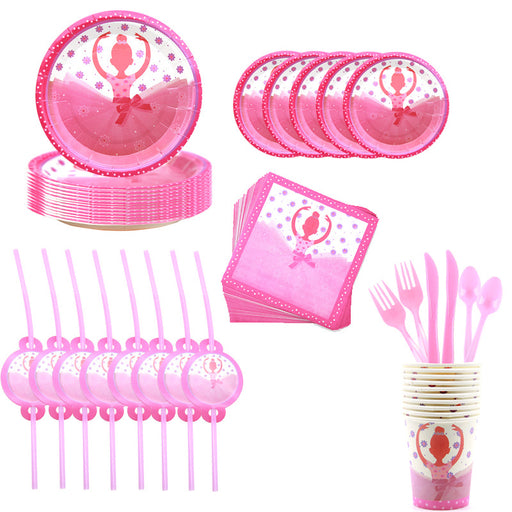 Kawaii  Japanese  Korean Dancing girl party tableware set