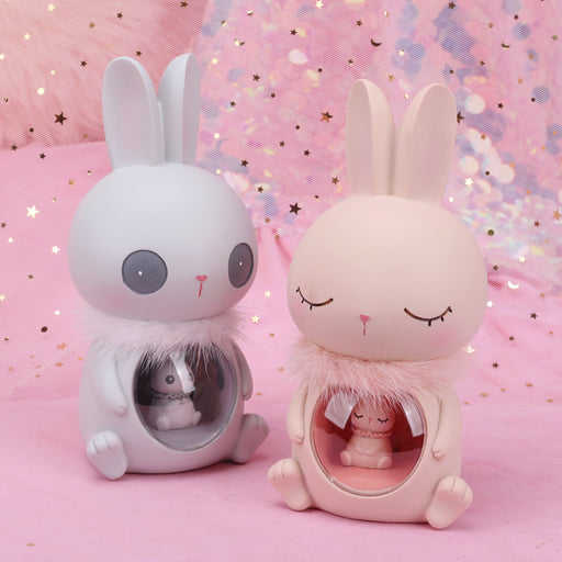 Birthday Gift Warm Rabbit Guardian Star Light Decoration Small Lamp Anime Doll Creative Crafts Table Lamp ~ Table Ornaments