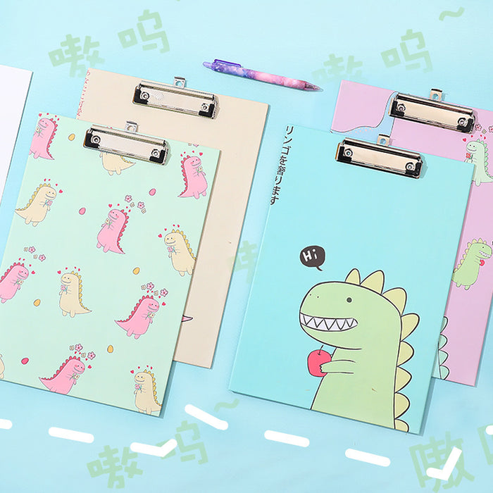 Cute Japanese and Korean cartoon A4 test paper information collection folder