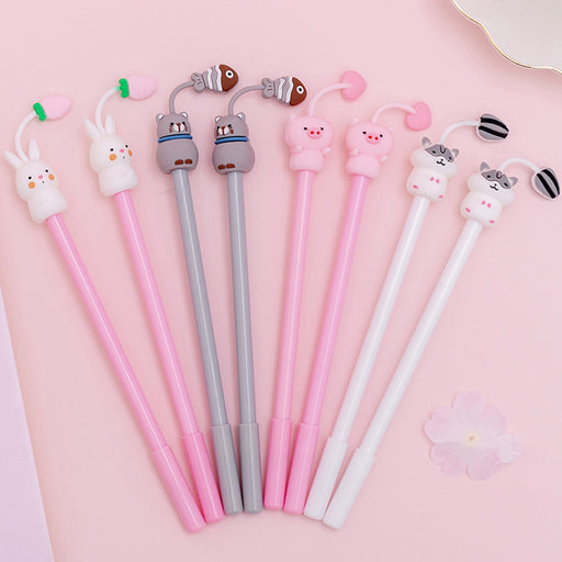 creative cartoon cute pet paradise gel pen fresh and cute student exam pen writing signature pen