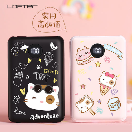 Kawaii  Japanese  Korean 10000mAh mobile power bank/one with three-strip cable high-capacity polymer power bank