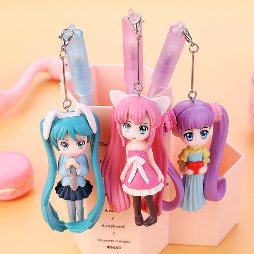 Kawaii  Japanese  Korean -Beautiful Girl Pendant Pen