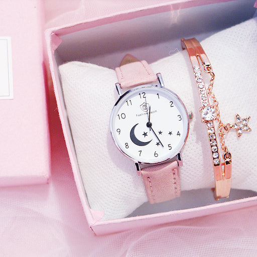 Kawaii  Japanese  Korean Girl Heart Starry Sky Moon Series Unicorn Watch